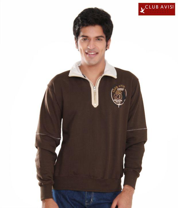 Club Avis USA Dark Brown Men Sweatshirt