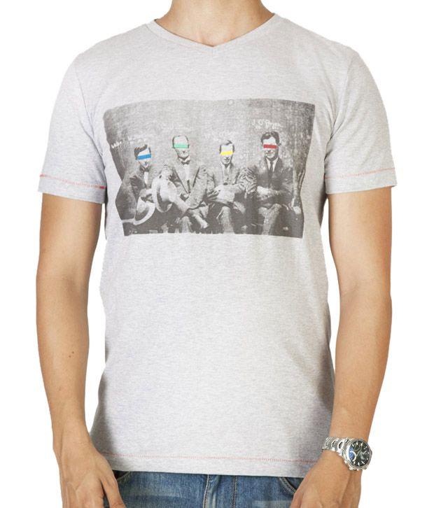 Dirty Laundery Light Grey Men T-Shirt