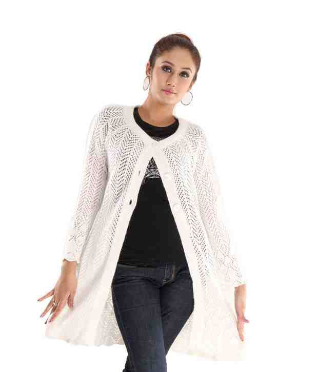 Fort Collins Gorgeous Off White Woollen Cardigan