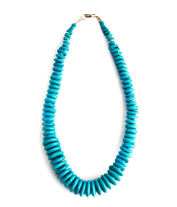 Go Hooked Beautiful Blue Resin Necklace