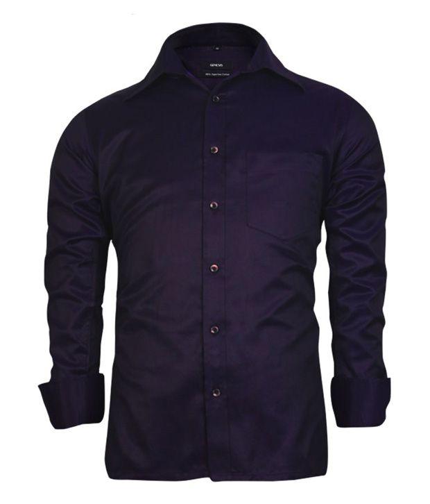 Genesis Dark Purple Designer Men Shirt