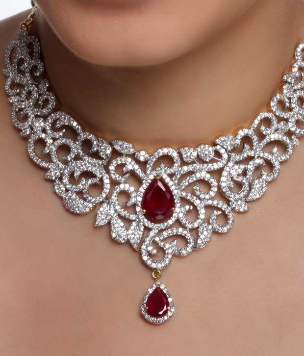 Diva Art Gorgeous American Diamond Bridal Set Buy Diva