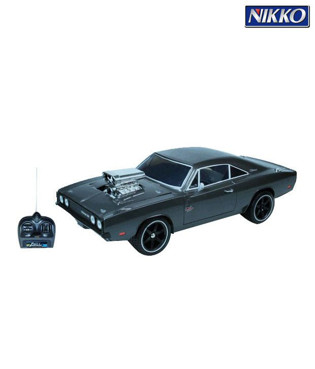 Nikko 1970 Dodge Charger R/C 1:16 (Additional 4 Drifting Tires Included)