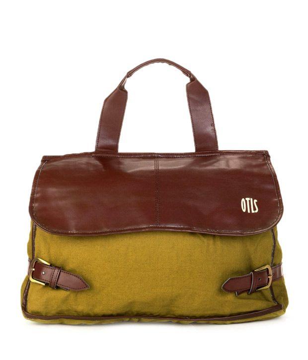 OTLS Mustard & Brown Messenger Bag