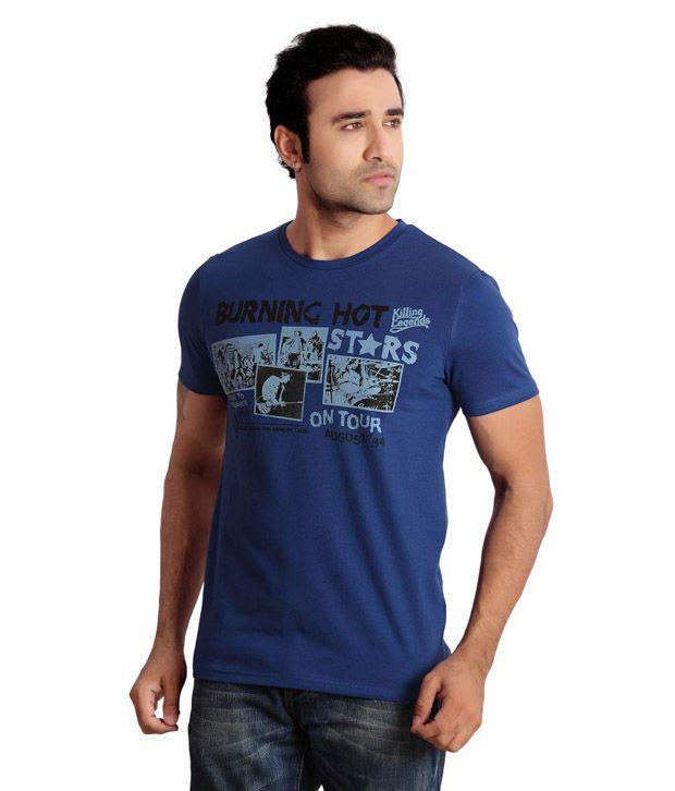 Soho New York Royal Blue T Shirts