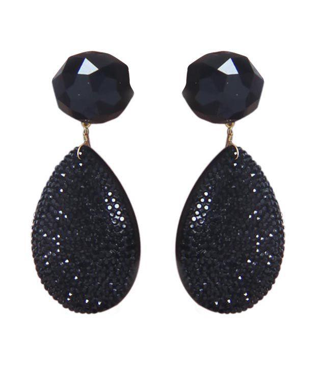 Black Stone Earrings: Maeisha Black Stone Earrings
