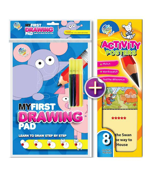 Gogo Kids Brain Train Drawing & Activity Book Combo Pack (Pack of 2 sets)