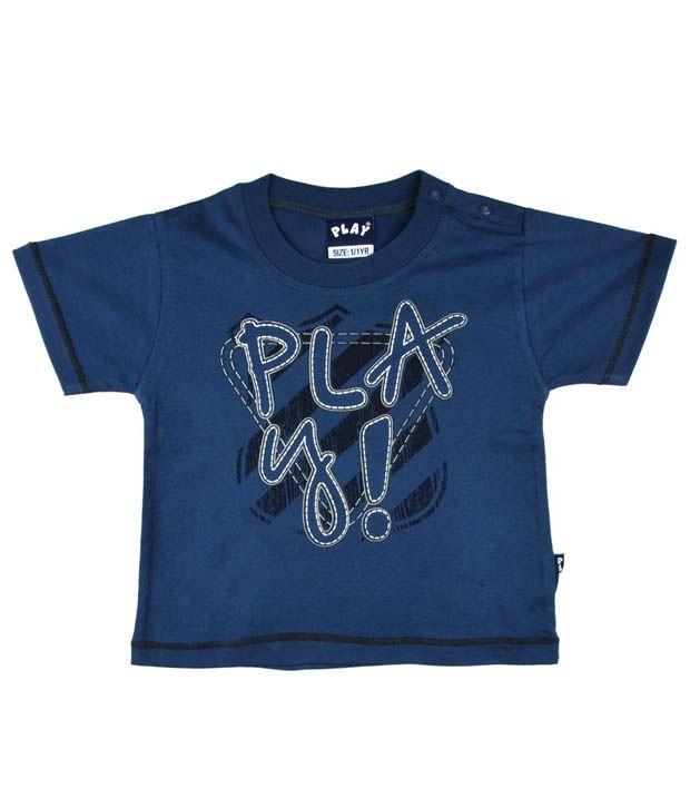 Little Kangaroos Play Navy Blue T-Shirt