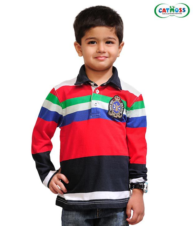 Catmoss Classic Striped T-Shirt For Kids