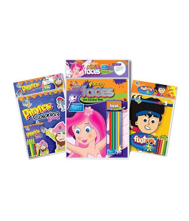 Gogo Kids Dacoit Run Coloring & Sticker book Combo Pack