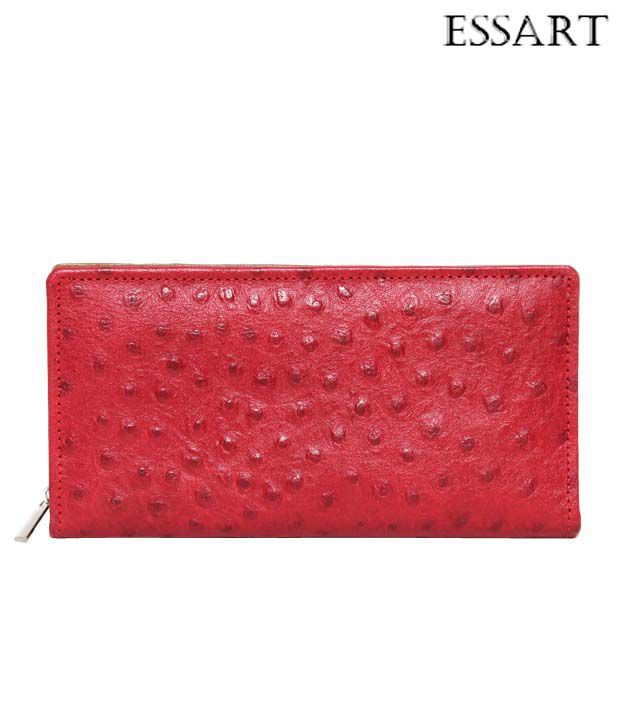 Essart Stunning Red Rugged Finish Wallet