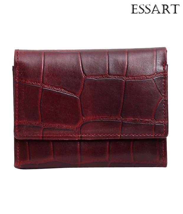 Essart Alluring Brown Croc Embossed Wallet