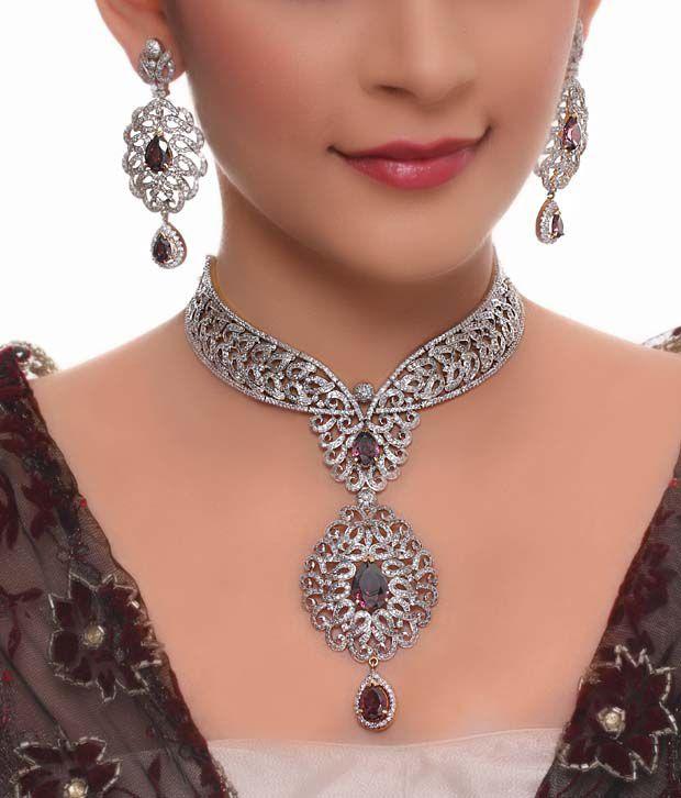 Karishma Dazzling American Diamond Bridal Set Buy