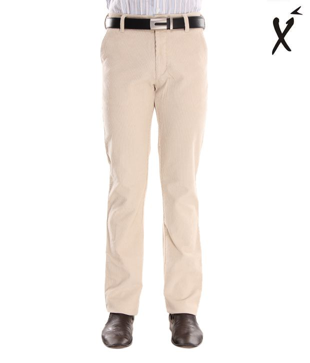 Xenia Classy Cream Men's  Trousers