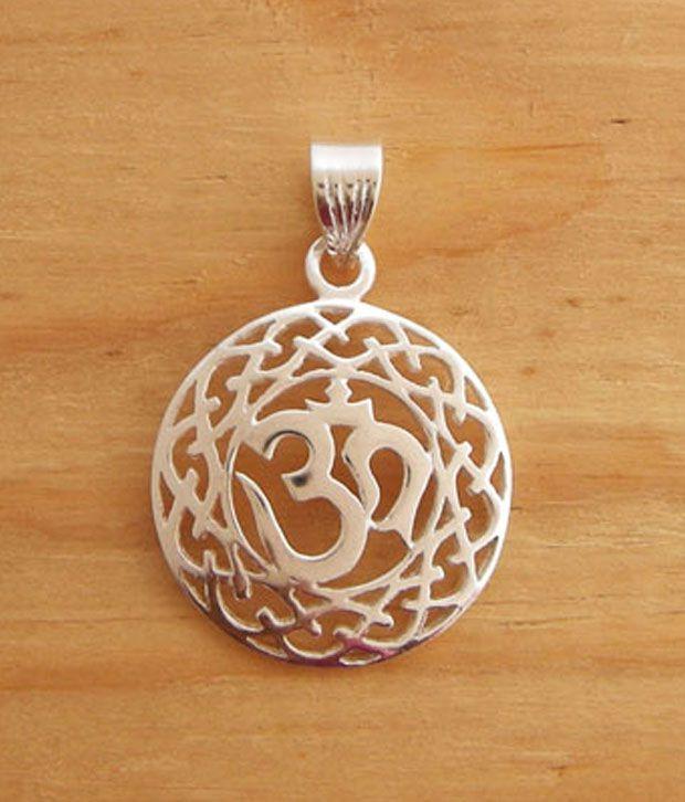 Designer Silver Charming Sterling Silver Om Pendant