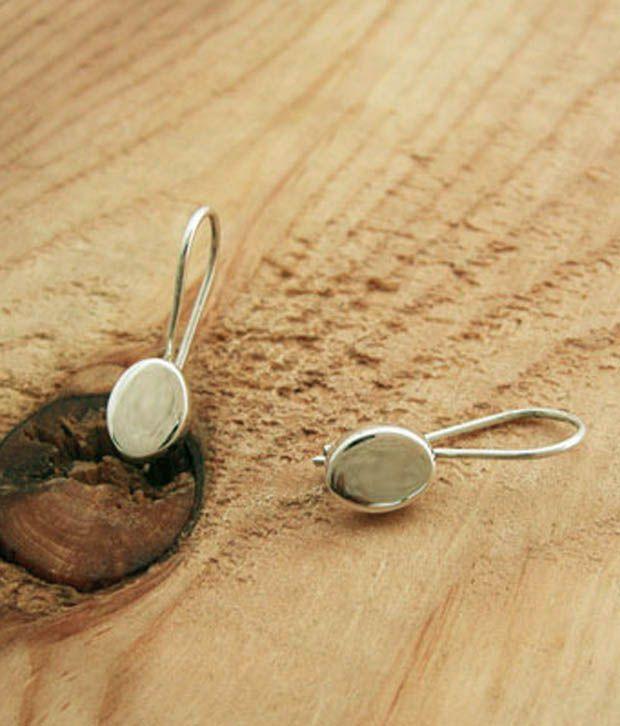 Designer Silver Modish Oval Sterling Silver Earrings