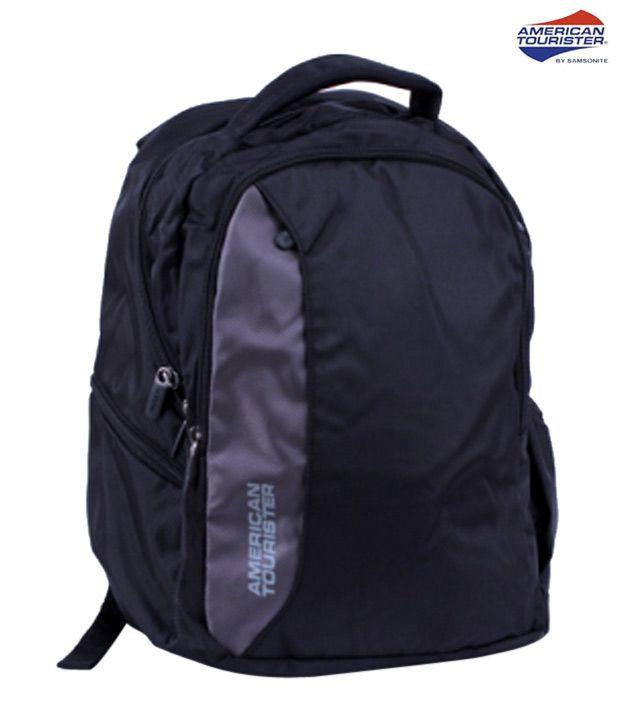 American Tourister Black Citi Pro 7 Laptop Backpack