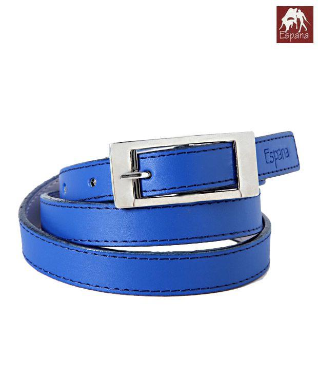 Espana Adorable Blue Textured Finish Ladies Belt