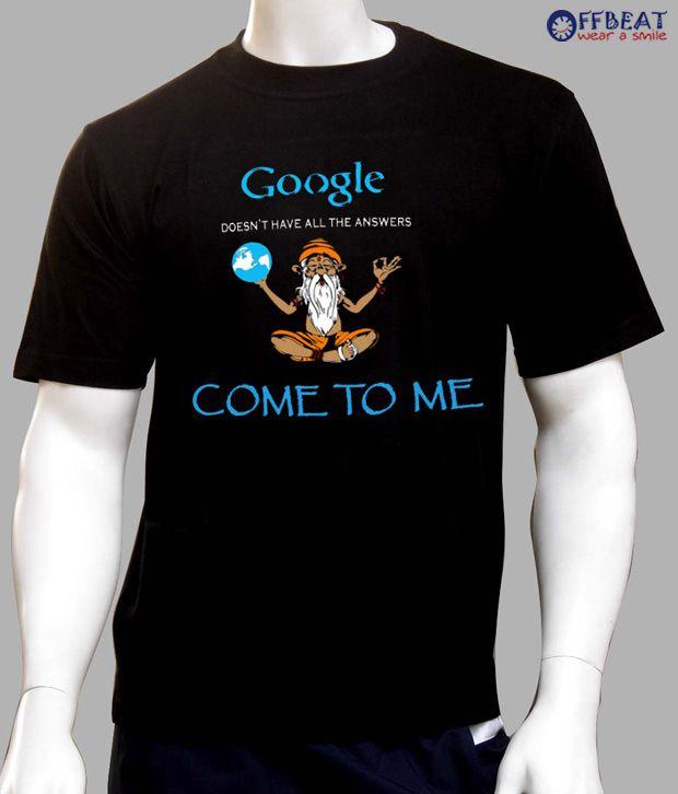 Offbeat Google Black T Shirt Buy Offbeat Google Black T