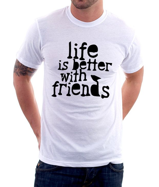 A for F White Friends T-Shirt
