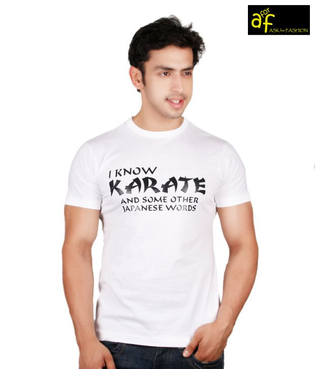 A for F White Karate T-Shirt