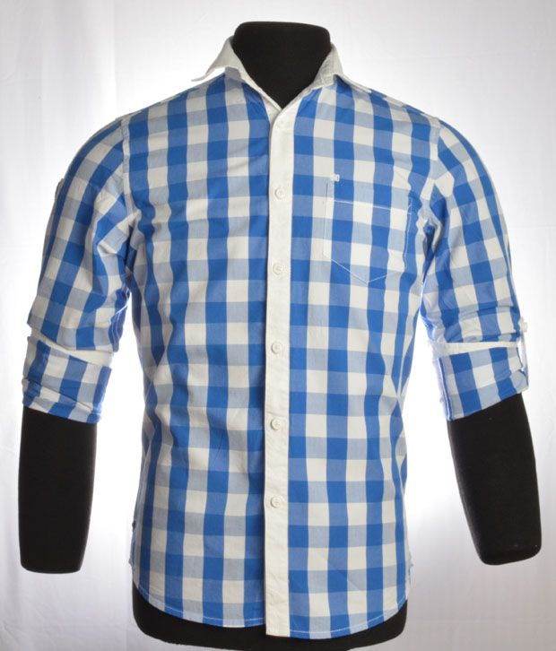 So Design Blue & White Shirts