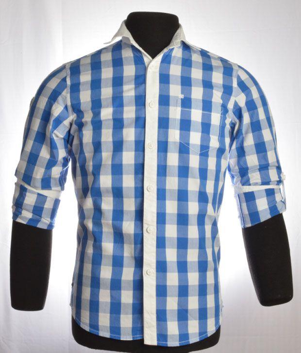 So Design Blue & White Shirts