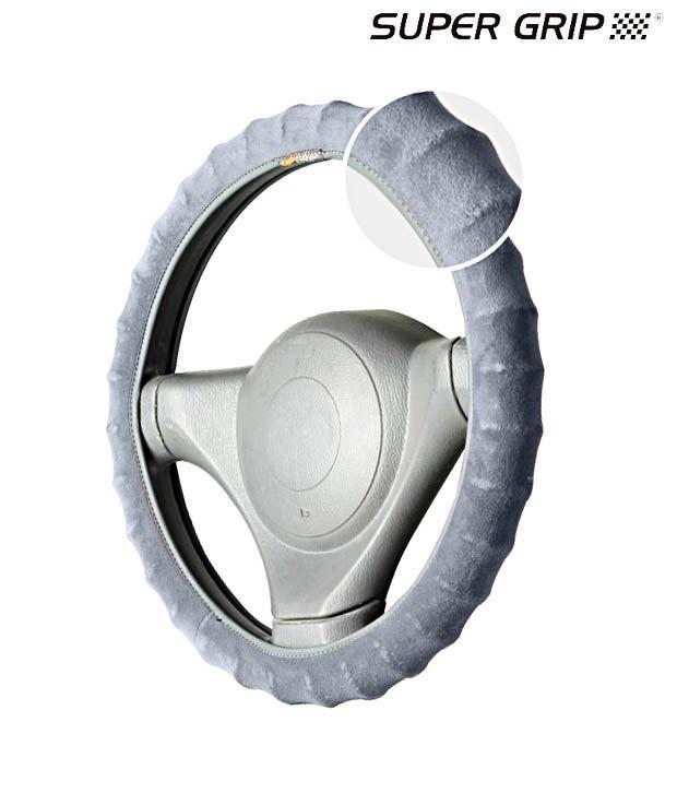 Super Grip - Velvo Grip - Ring Type Steering Cover - Grey - SKODA