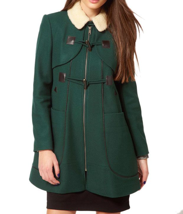 Lieben Mode Winsome Bottle Green Overcoat