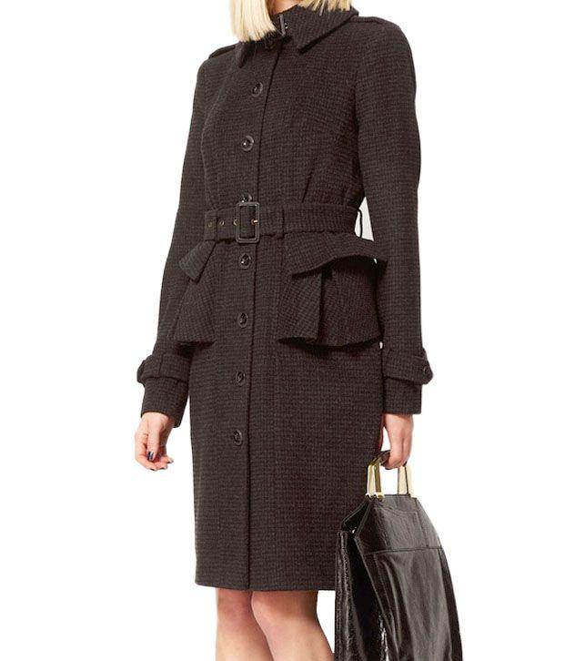 Lieben Mode Chic Black Overcoat