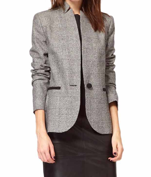 Lieben Mode Sophisticated Grey-Black Blazer
