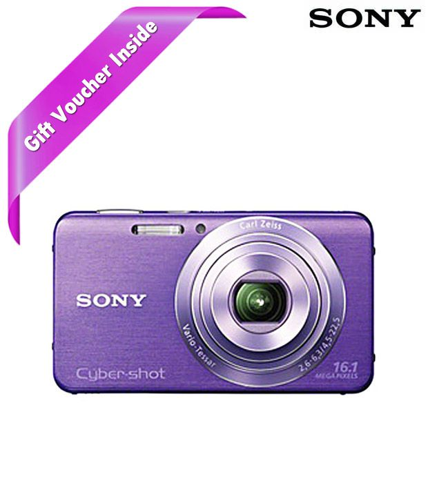 Sony CyberShot W630 16.1 MP Point & Shoot Digital Camera (Violet)