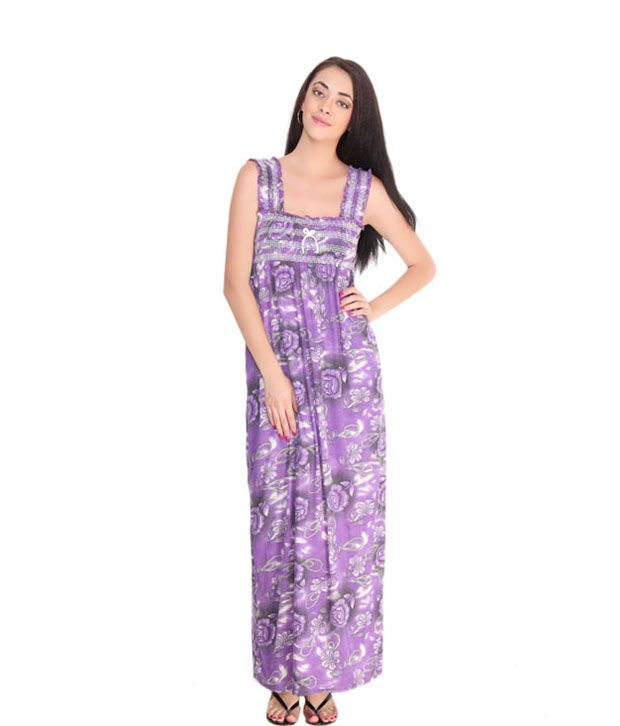 Fa Sense Perky Purple Long Nighty