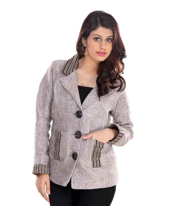 Lavennder Grey Formal Coat