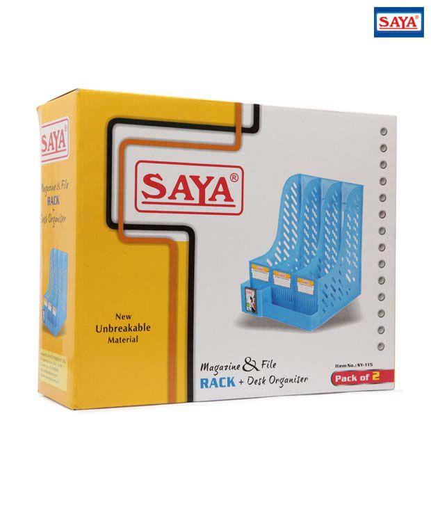 Saya Magazine & File Rack + Desk  Organiser (Set of 2 pcs)