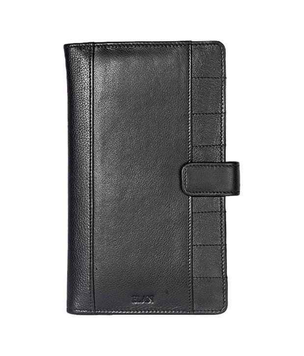 Elan Classy Black Traveller Wallet