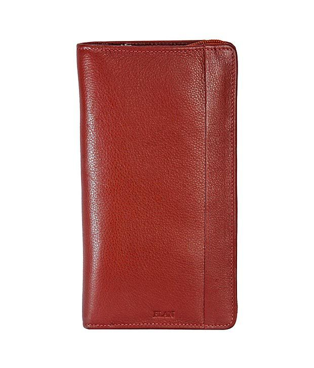 Elan Cherry Brown Traveller Wallet