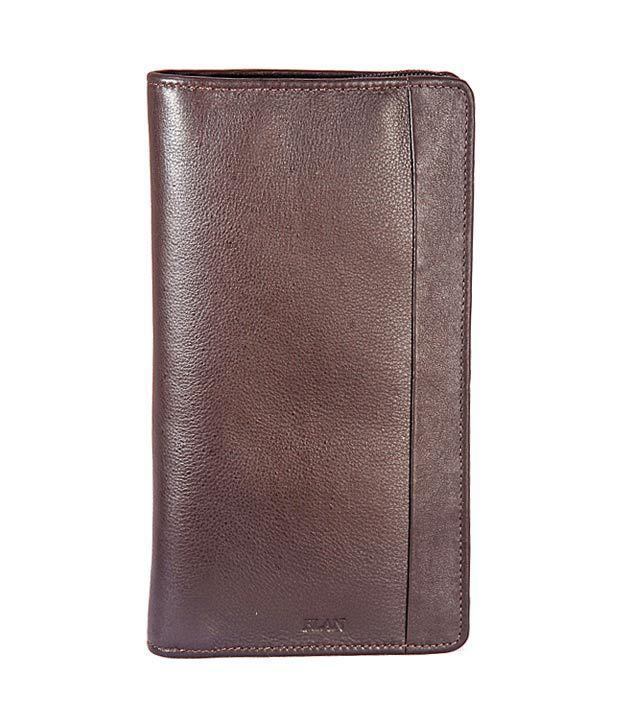 Elan Chocolate Brown Traveller Wallet