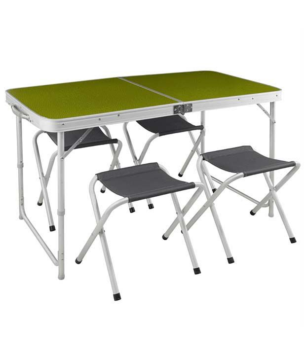 85551b499ca Quechua Table 46 Green Hiking Camping Furniture 8206056  Buy Online at Best  Price on Snapdeal