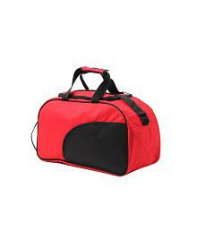 WalletsnBags Classy Red & Black Duffle Bag