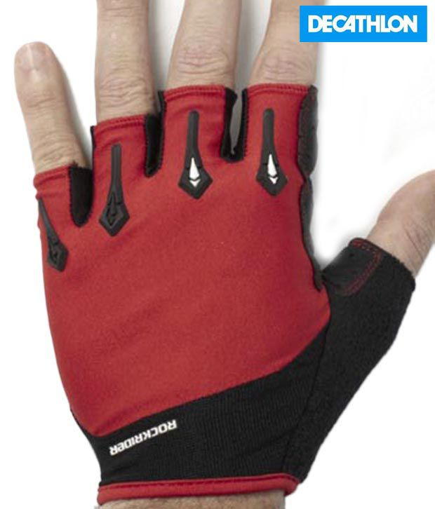 Btwin Red Reinforced Gloves 8199928