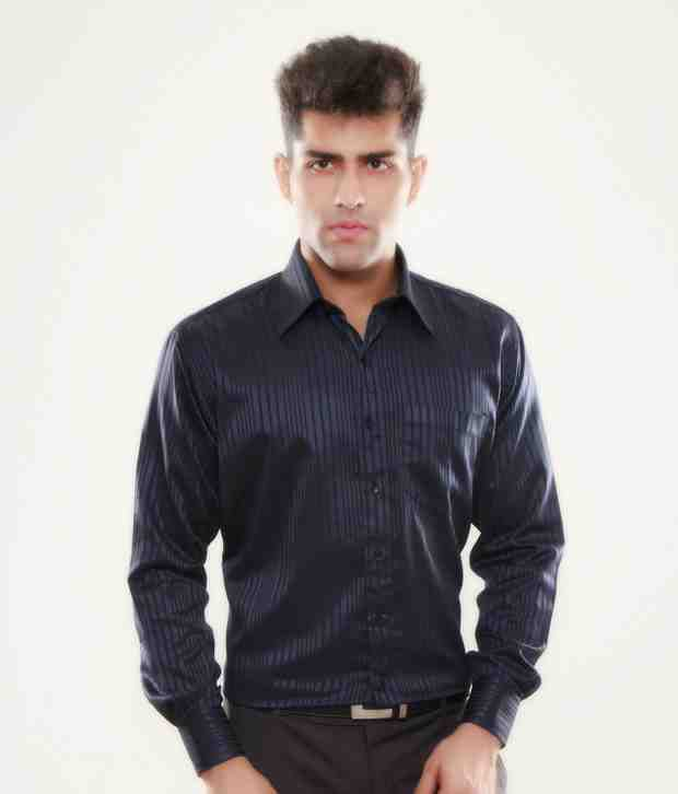 Keona Classic Dark Blue Stripes Shirt