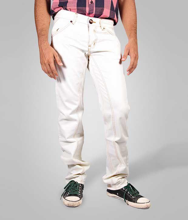 Sting Classy White Men Jeans