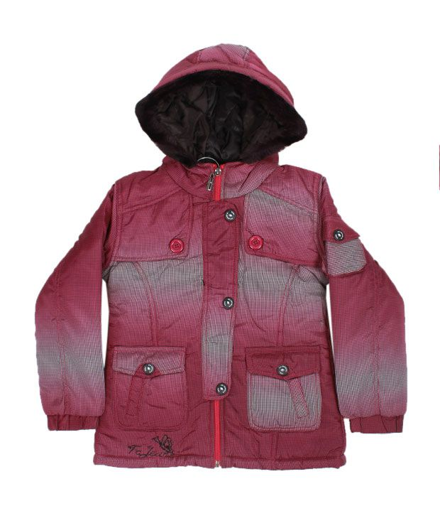 Fort Collins Pink Fur Hood Jacket For Kids