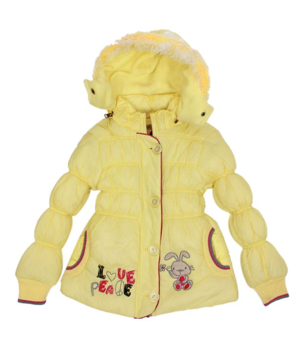 Fort Collins Yellow Fur Hood Jacket For Kids