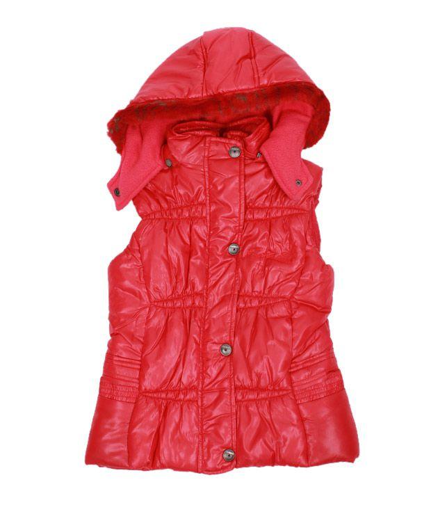 Fort Collins Red Hooded Jacket For Kids