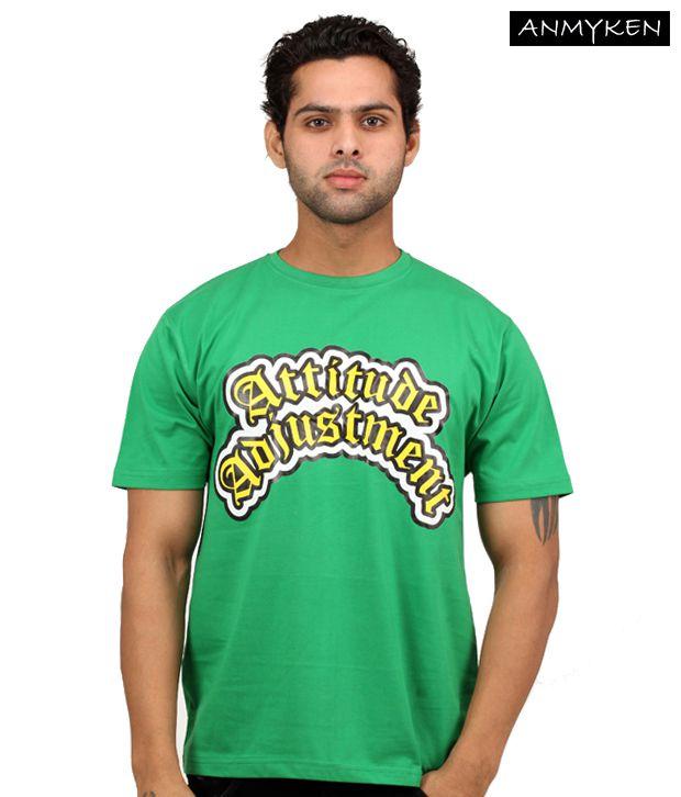 Johney B Attitude Adjustments Green T Shirt