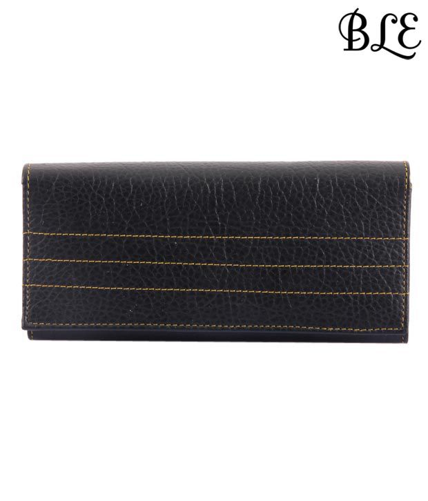 BLE Black Snake Print Mobile Holder Ladies Wallet