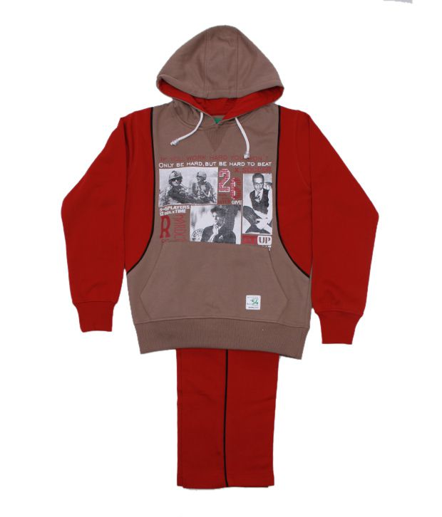 Fort Collins Brown & Rust Tracksuit For Kids