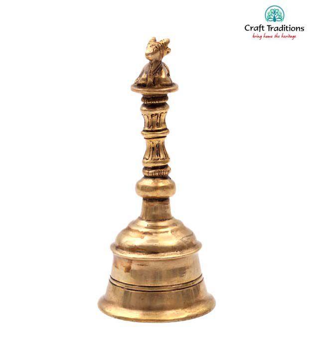 Craft Traditions Brass Nandi Bell Showpiece